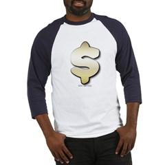 Golden Dollar Sign Baseball Jersey T-Shirt