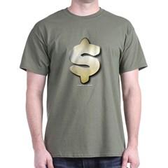Golden Dollar Sign Dark T-shirt