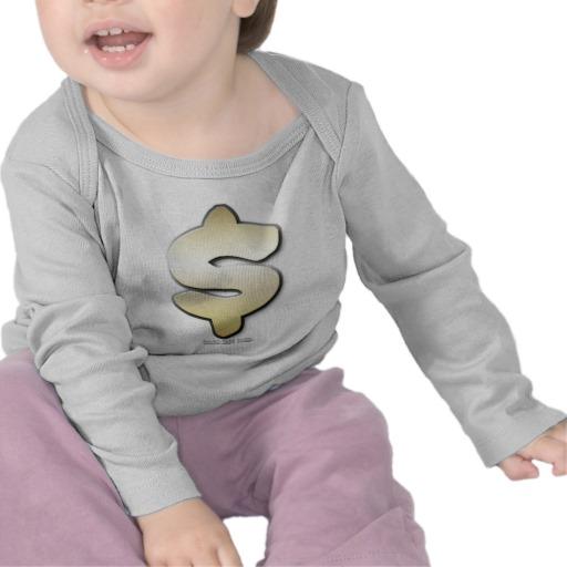 Golden Dollar Sign Infant Bella Long Sleeve T-Shirt