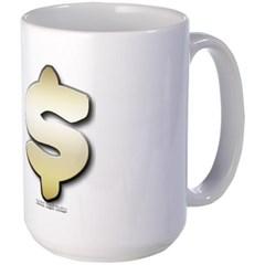 Golden Dollar Sign Mug