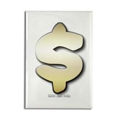 Golden Dollar Sign Rectangle Magnet