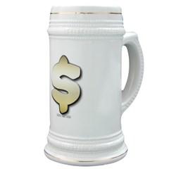 Golden Dollar Sign Stein