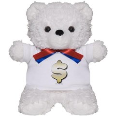 Golden Dollar Sign Teddy Bear