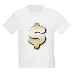 Golden Dollar Sign Youth T-Shirt by Hanes