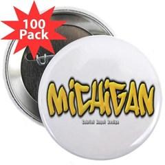 "Michigan Graffiti 2.25"" Button (100 pack)"