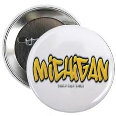 Michigan Graffiti Button