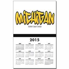 Michigan Graffiti Calendar Print