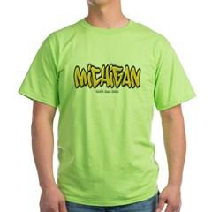 Michigan Graffiti Green T-Shirt