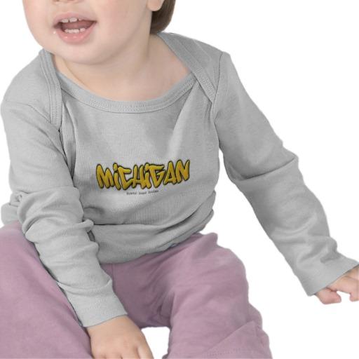 Michigan Graffiti Infant Bella Long Sleeve T-Shirt