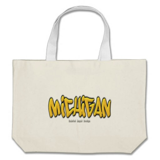 Michigan Graffiti Jumbo Tote