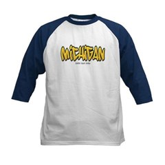 Michigan Graffiti Kids Baseball Jersey T-Shirt