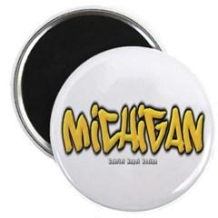 Michigan Graffiti Magnet