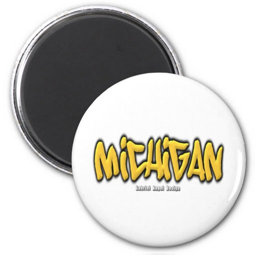 Michigan Graffiti Magnets