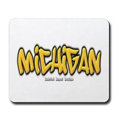 Michigan Graffiti Mousepad