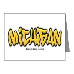 Michigan Graffiti Note Cards (Pk of 20)