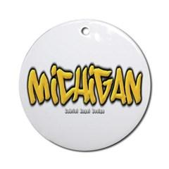 Michigan Graffiti Ornament (Round)