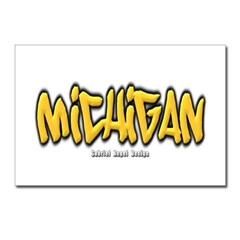 Michigan Graffiti Postcards (Package of 8)