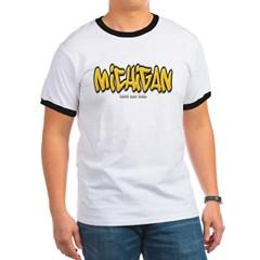 Michigan Graffiti Ringer T-Shirt