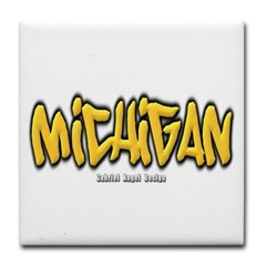 Michigan Graffiti Tile Coaster