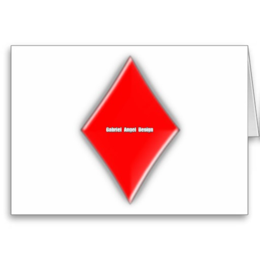 Diamonds Suit Greeting Card