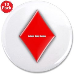 """Of Diamonds 3.5"""" Button (10 pack)"""