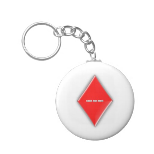 Of Diamonds Basic Button Keychain