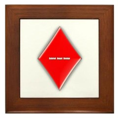 Of Diamonds Framed Tile