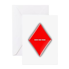 Of Diamonds Greeting Card