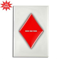 Of Diamonds Rectangle Magnet (10 pack)