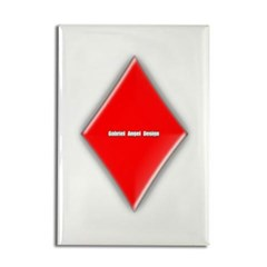 Of Diamonds Rectangle Magnet