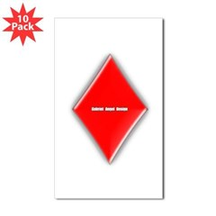 Of Diamonds Rectangle Sticker 10 pk)