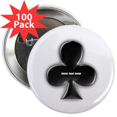 """Of Clubs 2.25"""" Button (100 pack)"""