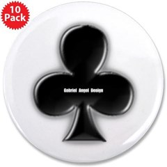 """Of Clubs 3.5"""" Button (10 pack)"""