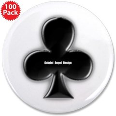 """Of Clubs 3.5"""" Button (100 pack)"""