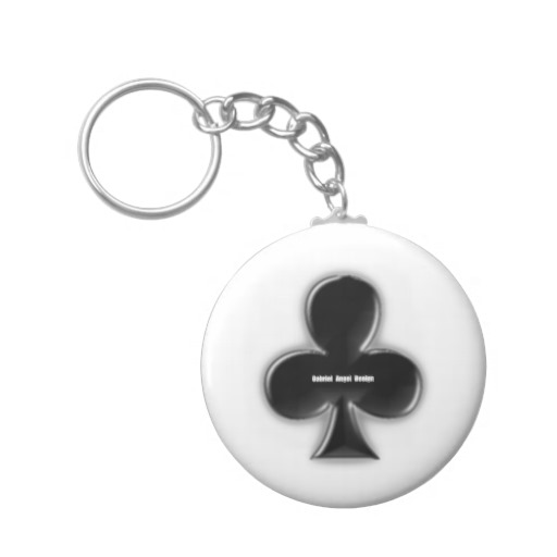 Of Clubs Basic Button Keychain