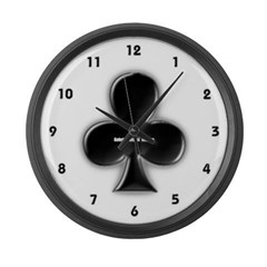 Of Clubs Large Wall Clock