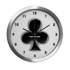 Of Clubs Modern Wall Clock