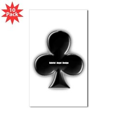 Of Clubs Rectangle Sticker 10 pk)