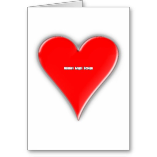 Hearts Suit Greeting Card