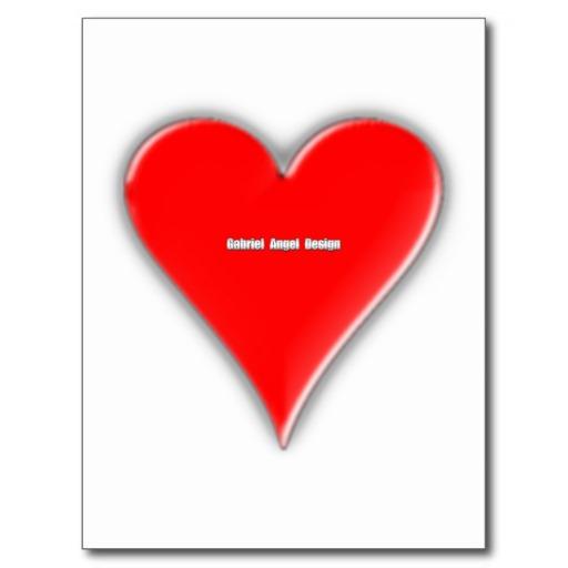 Hearts Suit Postcard