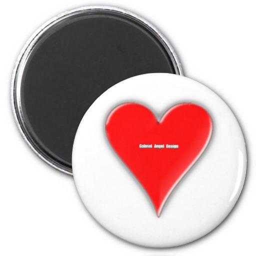 Hearts Suit Refrigerator Magnet