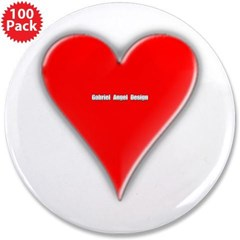 """Of Hearts 3.5"""" Button (100 pack)"""