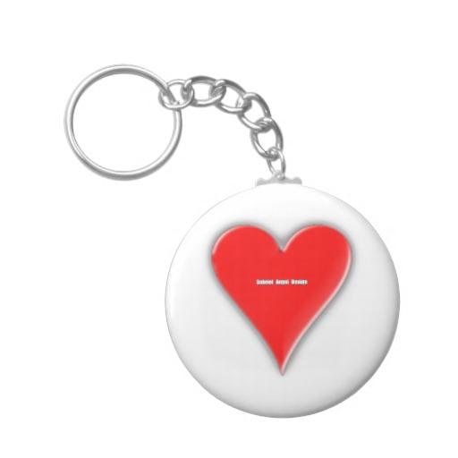 Of Hearts Basic Button Keychain