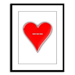 Of Hearts Large Framed Print