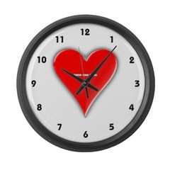 Of Hearts Large Wall Clock