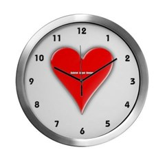 Of Hearts Modern Wall Clock