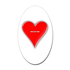 Of Hearts Oval Decal