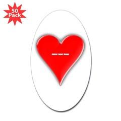 Of Hearts Oval Sticker (50 pk)