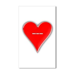 Of Hearts Rectangle Decal