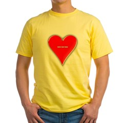 Of Hearts Yellow T-Shirt